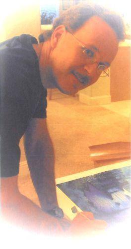 ジョン・ラッテンベリー画伯の版画サイン入れ